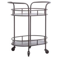 Cole Industrial Style Metal Small Oval Bar Cart | Kathy ...