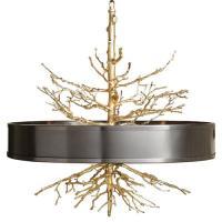 Bijou Tree Branch Hollywood Regency Brass Bronze Ceiling ...