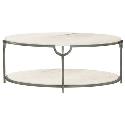 laci hollywood regency silver marble oval coffee table