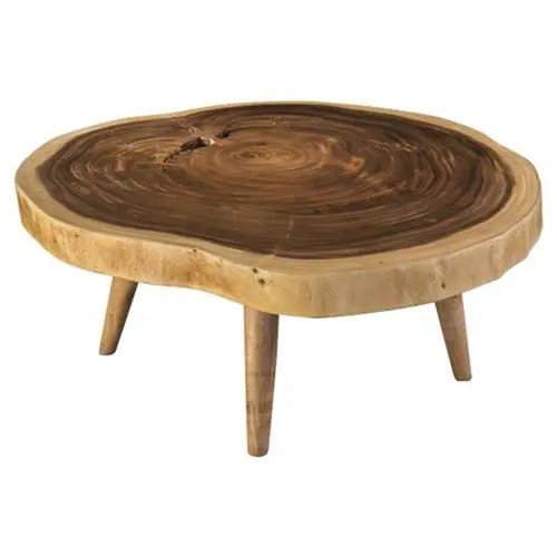 madison modern classic tree stump solid wood round coffee table