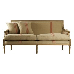 Stripe Sofa Single Recliner St Germain French Style Red Linen Louis Xvi
