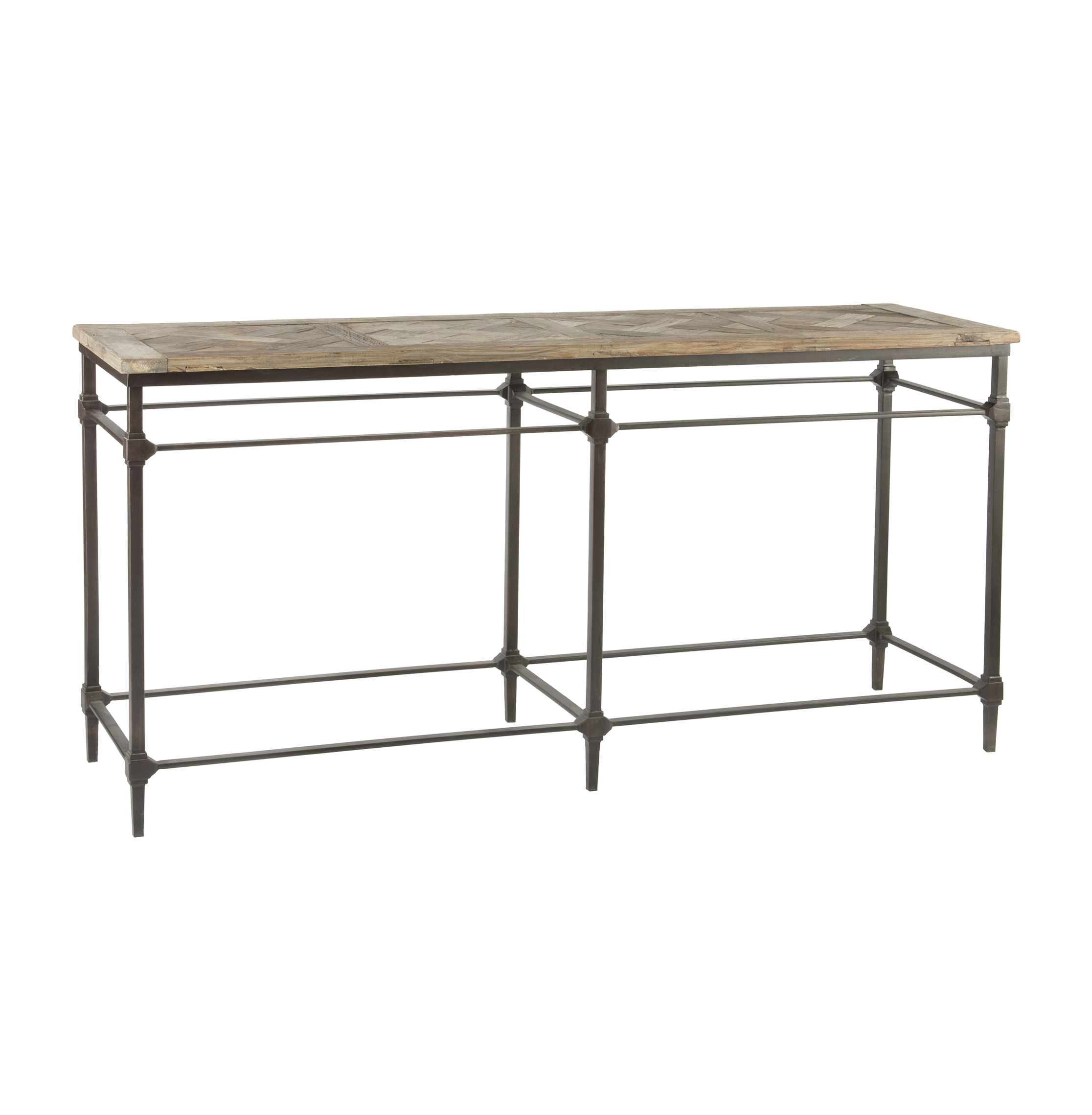country cote sofa table flower english style mattix french reclaimed wood 71 quot console