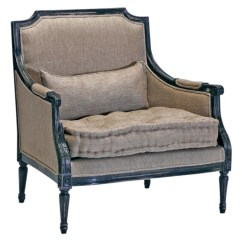 French Country Accent Chair Wood Lounge Stephan Masculine Antique Black