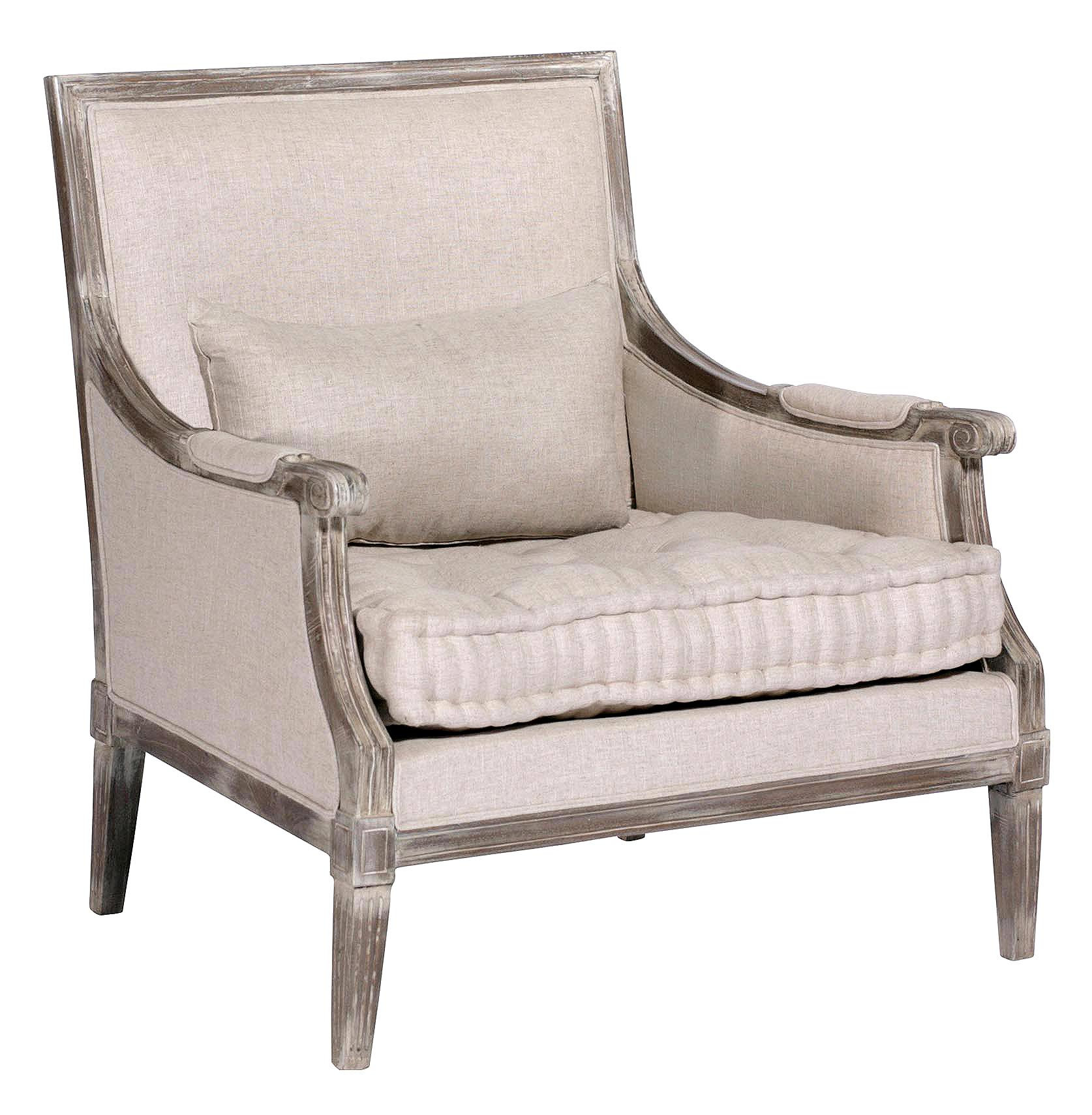 french country accent chair portable cloth high pattern victor square back tufted linen bergere