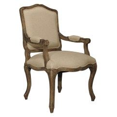 French Country Dining Chairs With Arms Grey Pair Linen Toile Back Ecru Oak Arm Chair