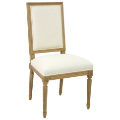 French White Dining Chairs Banquet Chair Covers Singapore Pair Louis Country Cotton