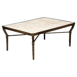 jane modern french stone top metal outdoor coffee table