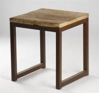 Modern Rustic Reclaimed Wood Side End Table