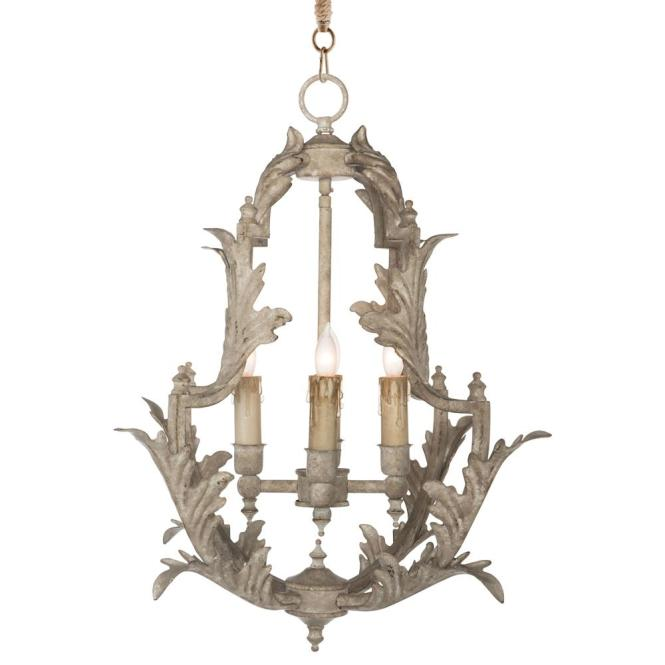 Clarisse French Country Rustic White Chandelier 23 Inch Kathy Kuo Home