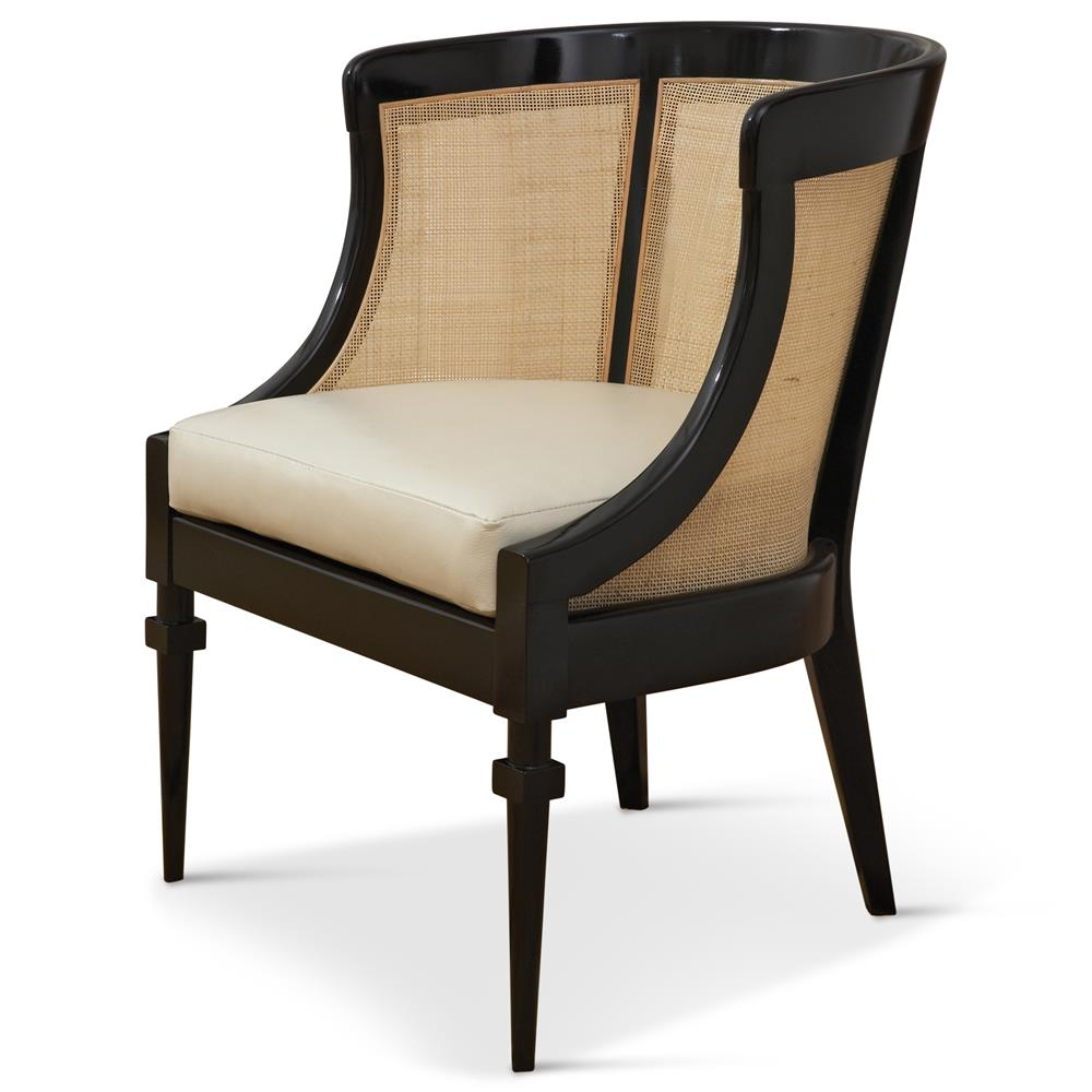 leather side chair folding edmonton heaton hollywood regency black wood cane kathy kuo home