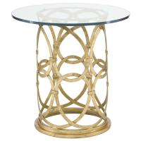 Antonia Hollywood Regency Round Gold Metal Side End Table ...