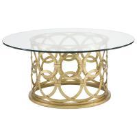 Antonia Hollywood Regency Round Gold Metal Coffee Table ...