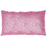 Nikki Pink Jeweled Beaded Pillow - 12x20 | Kathy Kuo Home