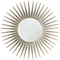Hitchcock Hollywood Regency Silver Leaf Sunburst Mirror ...