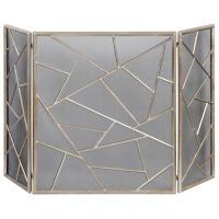 Marco Global Bazaar Silver Leaf Iron Fireplace Screen ...