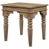 Macon French Country Reclaimed Wood End Table | Kathy Kuo Home