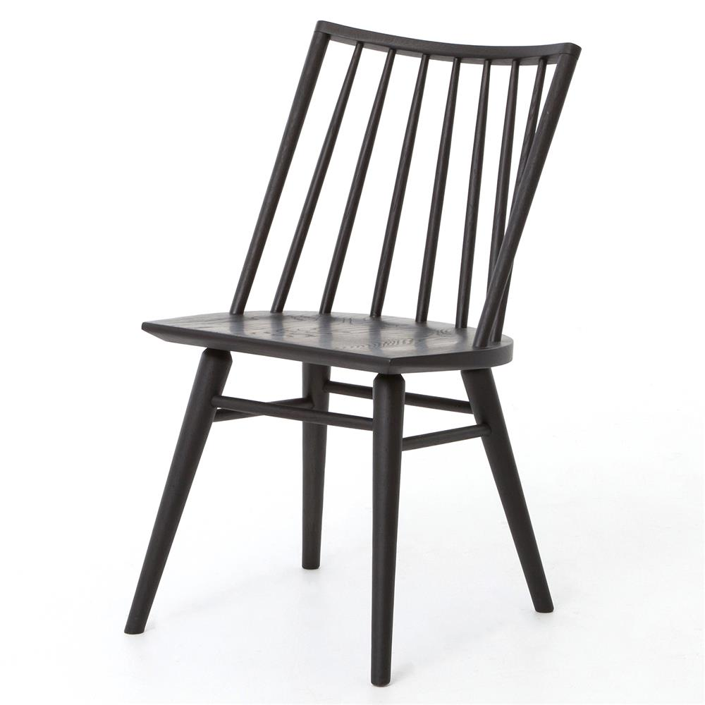 black side chair wooden beach chairs plans lara modern classic oak simple dining kathy kuo home