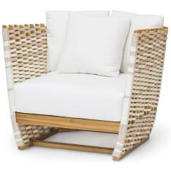 Cheap Outdoor Lounge Chairs Plastic Patio Table And Palecek San Martin Modern Classic Salt Rope Wrapped Chair Kathy Kuo Home