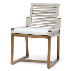 Sailcloth Beach Chairs Folding Chair Job Lot Palecek San Martin Coastal Salt Rope Wrapped Outdoor Side