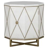 Keel Modern Octo Seagrass Brass End Table   Kathy Kuo Home