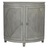 Nazaire Coastal French Demilune Console Cabinet | Kathy ...