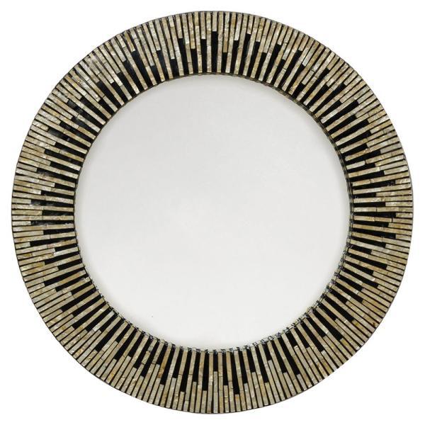 Palecek Maya Global Bazaar Black Inlaid Capiz Mirror