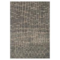 Renna Industrial Slate Grey Path Wool Jute Rug - 4x6 ...