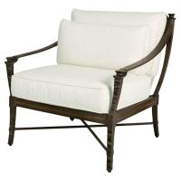 Jane Modern French Metal White Outdoor Lounge Chair ...