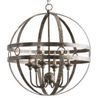 Holm Modern Rustic Silver Geometric Orb Chandelier
