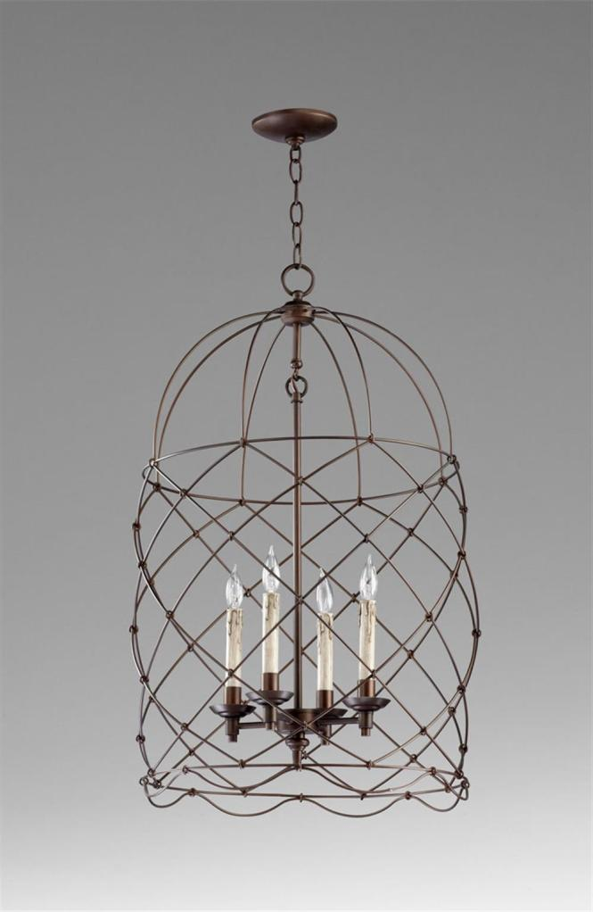 Adele Oil Rubbed Bronze Four Light Bird Cage Chandelier Kathy Kuo Home