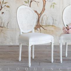 Antique White Dining Chairs Ikea Tullsta Chair Covers Uk Eloquence Louis Cane In Kathy Kuo Home