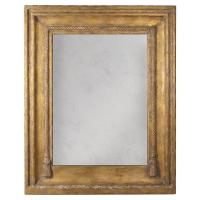 Lou French Country Rustic Brown Gold Frame Antiqued Wall
