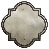 Fitzgerald Regency Black Double Border Quatrefoil Wall ...