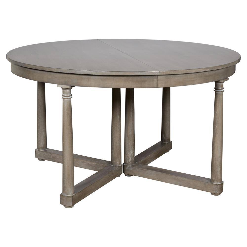 Vanguard Callas Rustic Grey Brown Extendable Round Dining