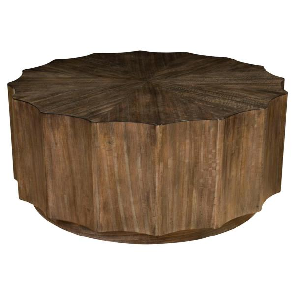 Rustic Round Wood Coffee Tables