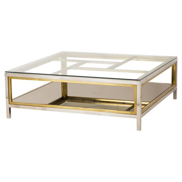 resource decor windmill regency glass silver gold coffee table