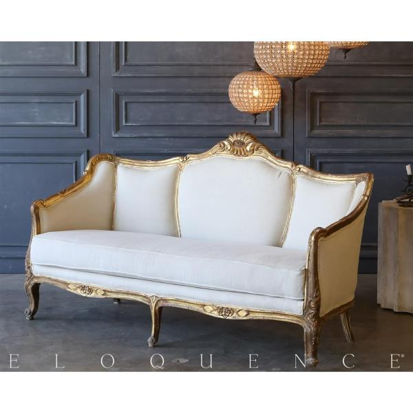 Eloquence Vintage Antique Gold Daybed 1940 Kathy Kuo Home