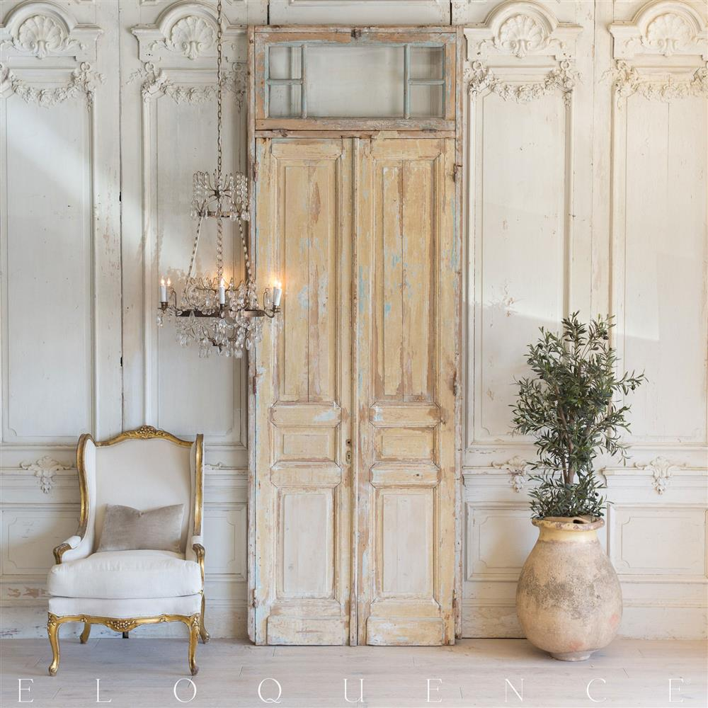 French Country Style Vintage Doors 1940  Kathy Kuo Home