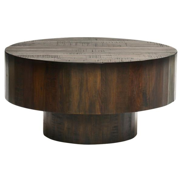 Reclaimed Wood Round Coffee Table