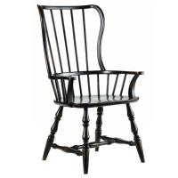 Anson Modern Classic Ebony Windsor Arm Chair | Kathy Kuo Home