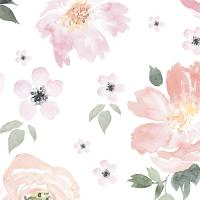 Anewall Pretty In Pink Modern Classic Pastel Floral ...