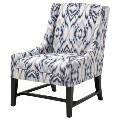 Blue And White Upholstered Chairs Wooden Office Chair Design Eichholtz Harrison Global Bazaar Accent Club Kathy Kuo Home