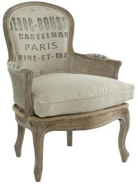 French Country Grain Sack Burlap Occasional Chair | Kathy ...