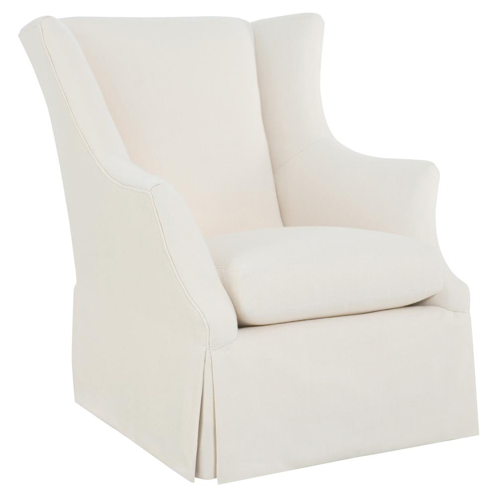 swivel club chair grey folding covers cr laine holly modern classic white sunbrella wing back kathy kuo home