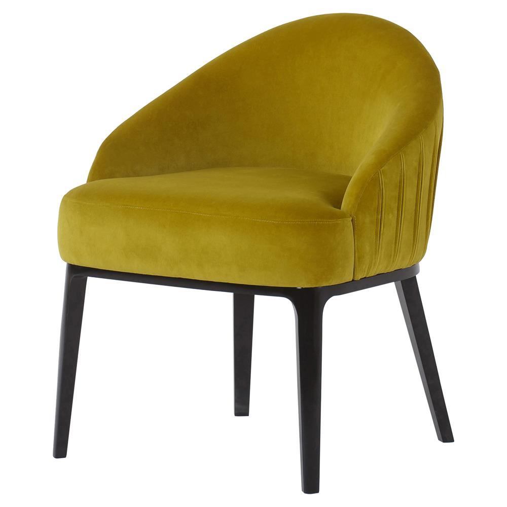 Andrew Martin Cersei Modern Classic Yellow Velvet Wood