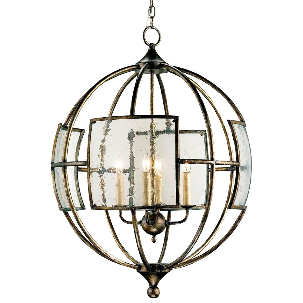 Broxton Seeded Glass 4 Light Orb Pendant Lantern