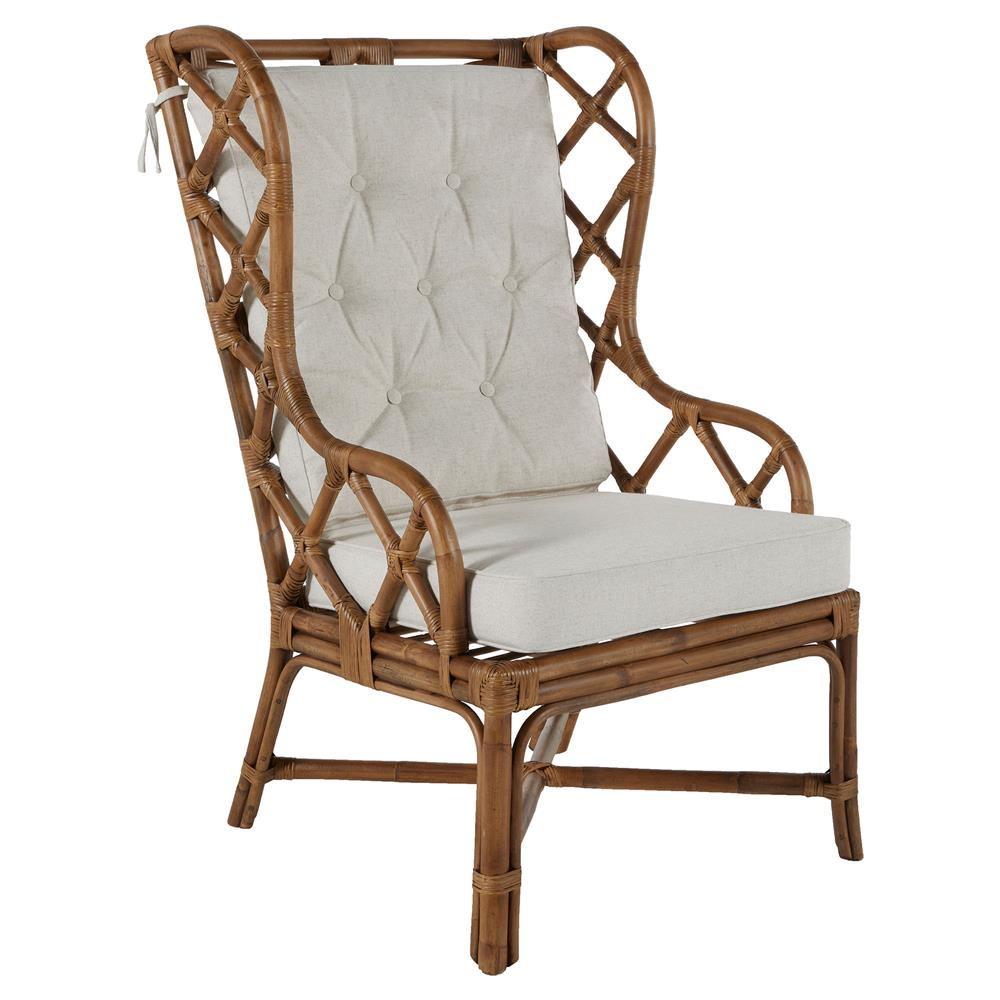 rattan wingback chairs rei folding watson coastal large wing back dining occasional accent view full size