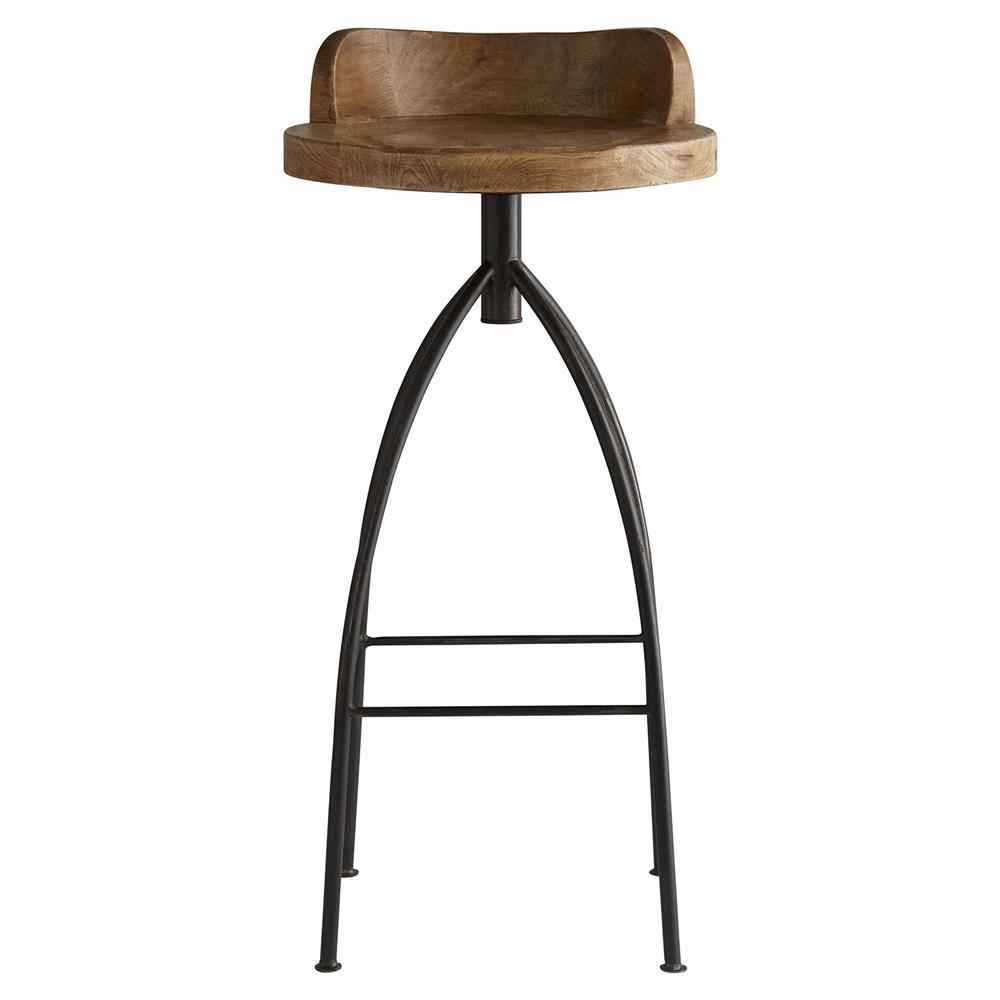Missoula Industrial Loft Antique Wood Iron Swivel Bar