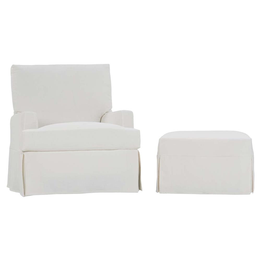 white slipcover chair and ottoman couch covers cheap cyrus modern classic slipcovered swivel glider kathy kuo home