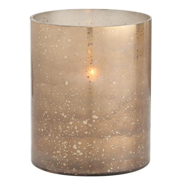Gold Glass Hurricane Candle Holders